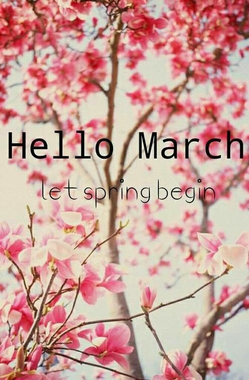 hallo maart hallo lente quote hello march let spring begin