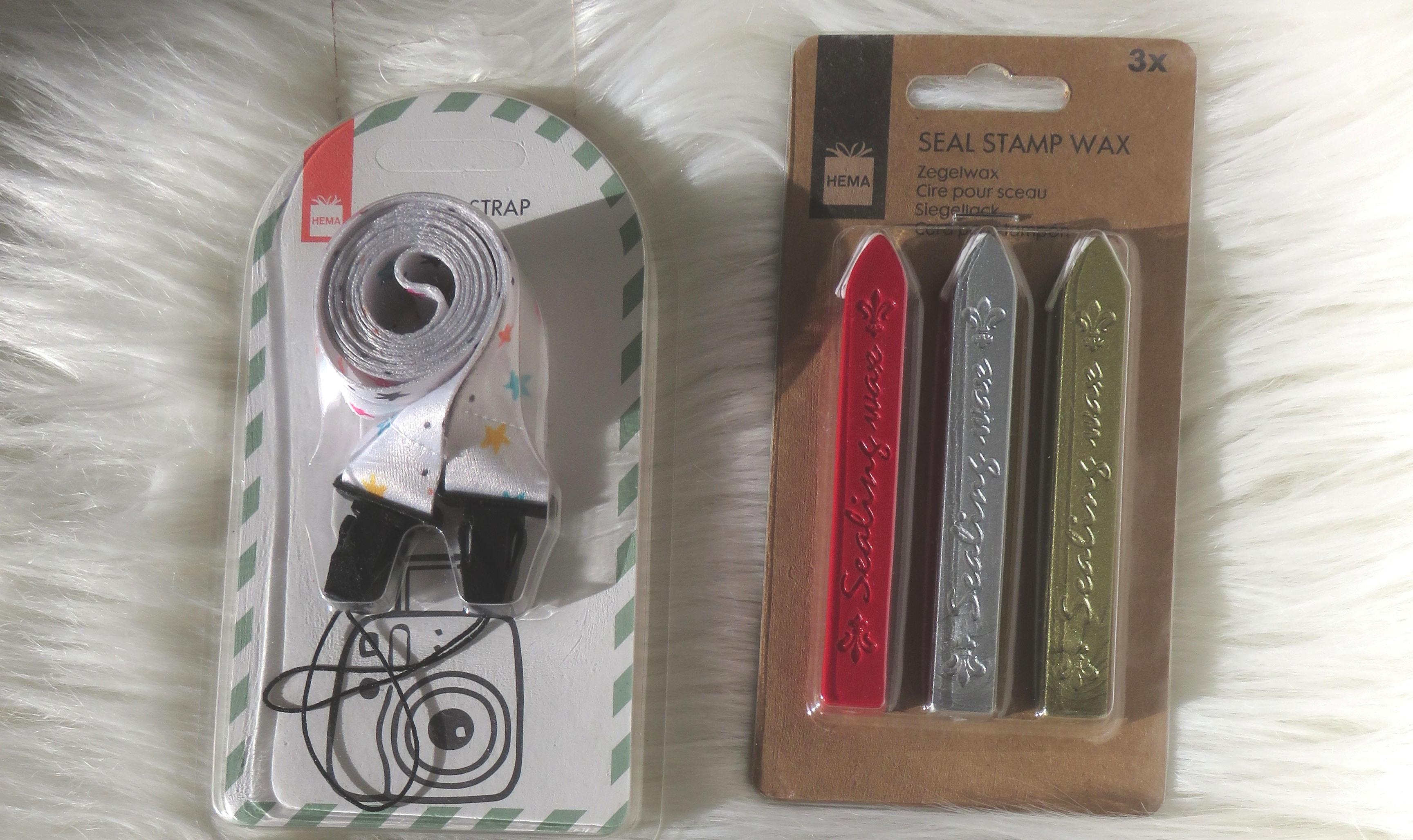 hema Instax camera strap + seal stamp wax