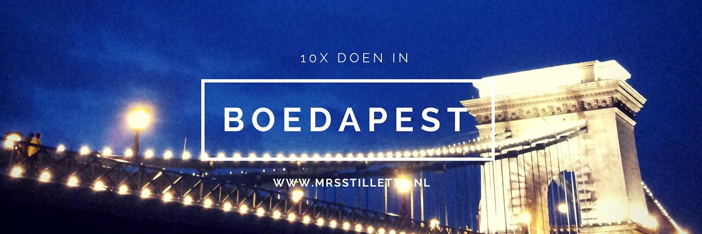 10x doen in Boedapest
