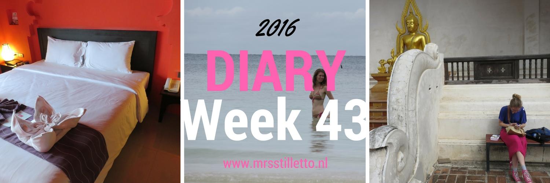 DIARY 2016 Week 43 Naar de koh