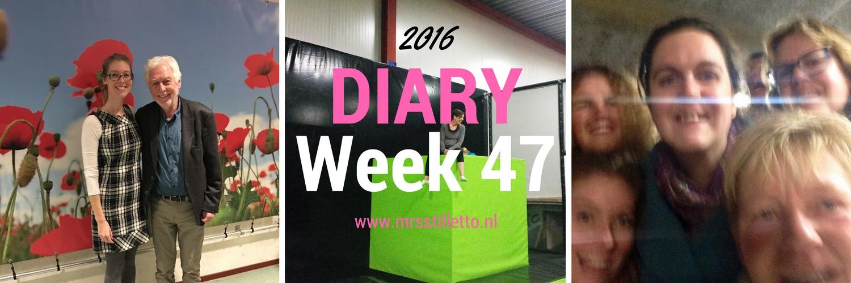 DIARY 2016 Week 47 vrijgezellenfeest