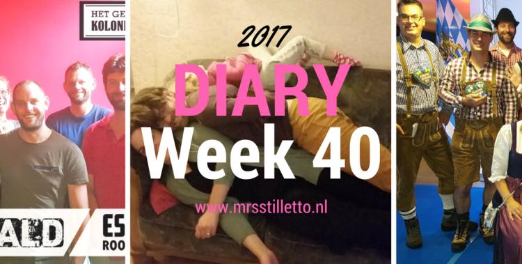 DIARY 2017 - Week - Het lieve leven begint weer