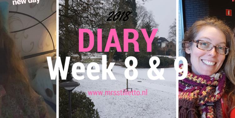 DIARY 2018 - Week 8 en 9 - ik ben een grotere perfectionist dan ik dacht